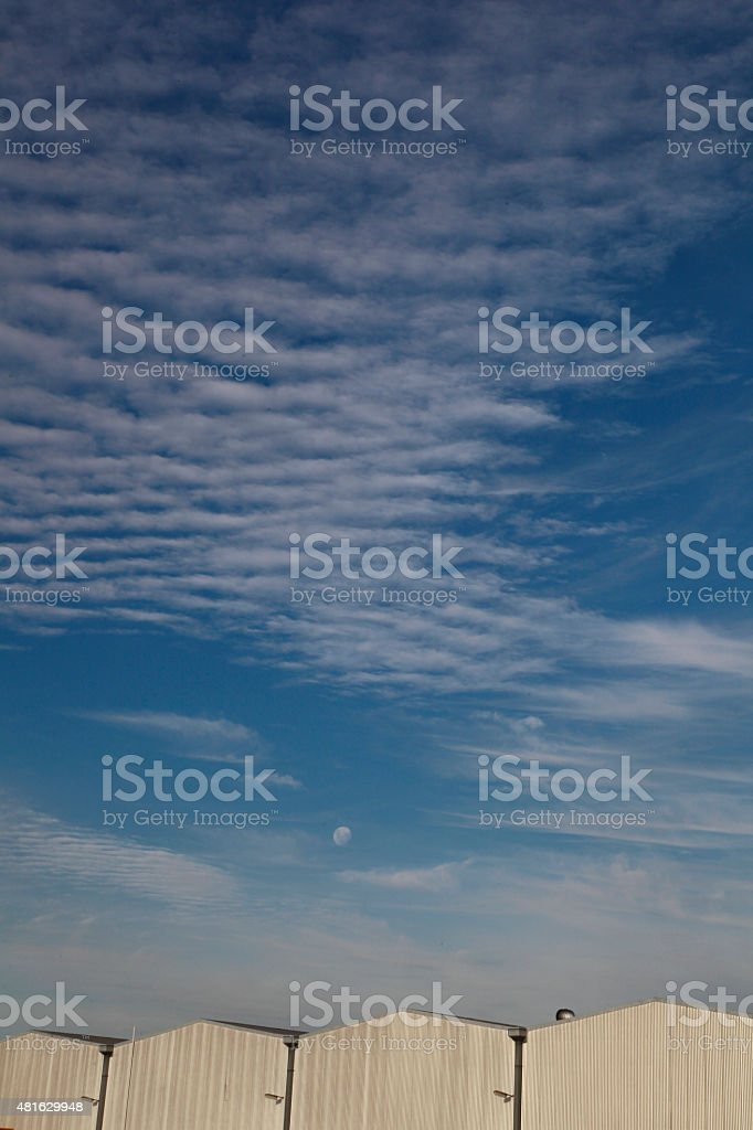 Factories and Skyscape stock photo