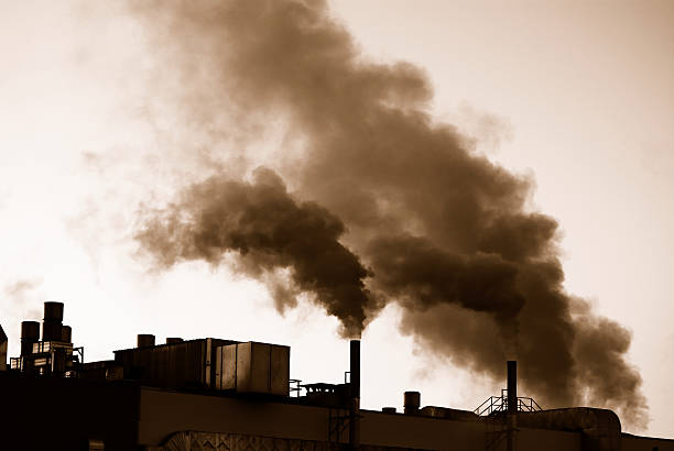 Factories during industrial revolution producing pollution
