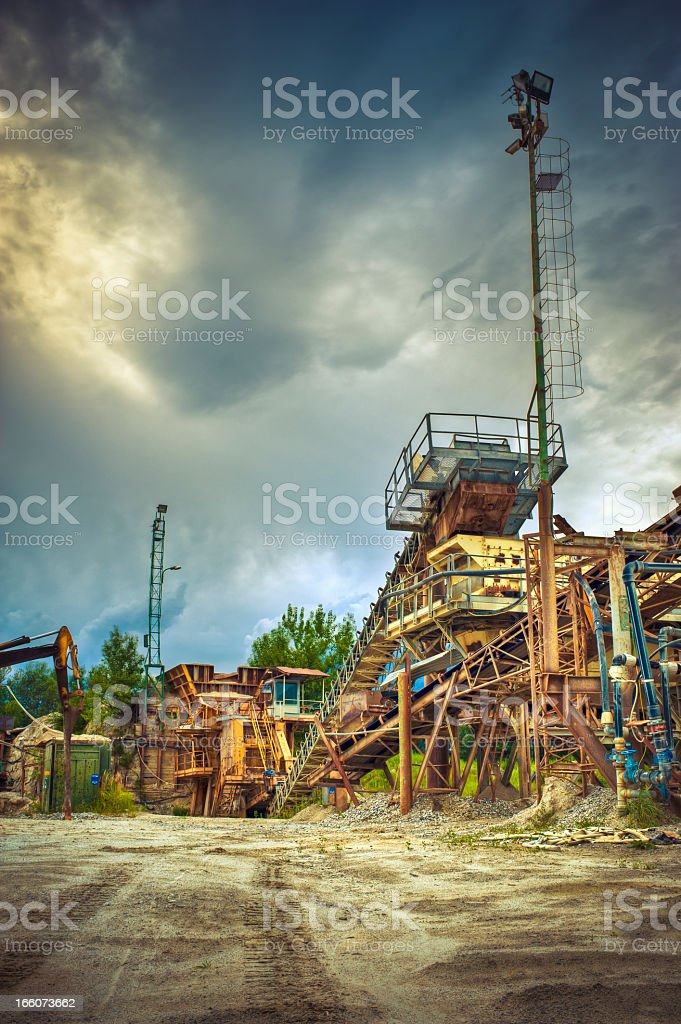 Factory Against Cloudscape, HDR royalty-free stock photo
