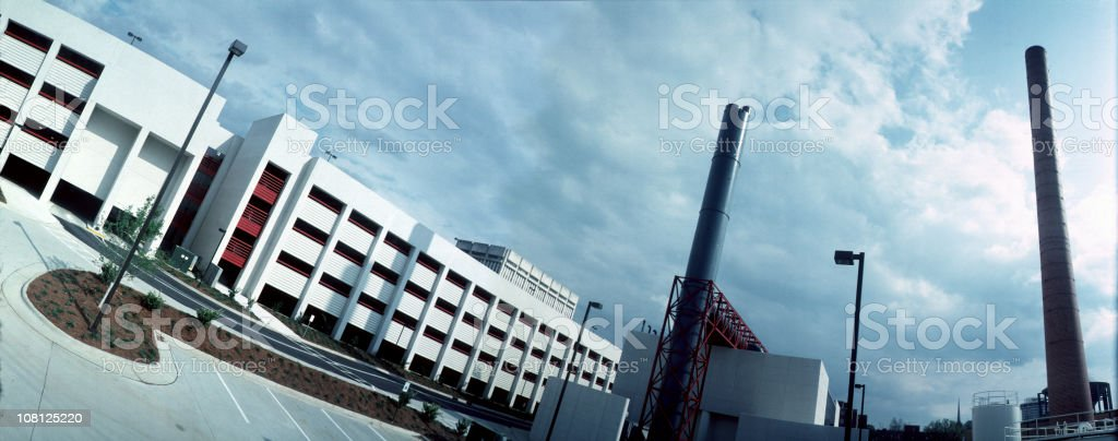 Factory and office complex widelux panorama royalty-free stock photo