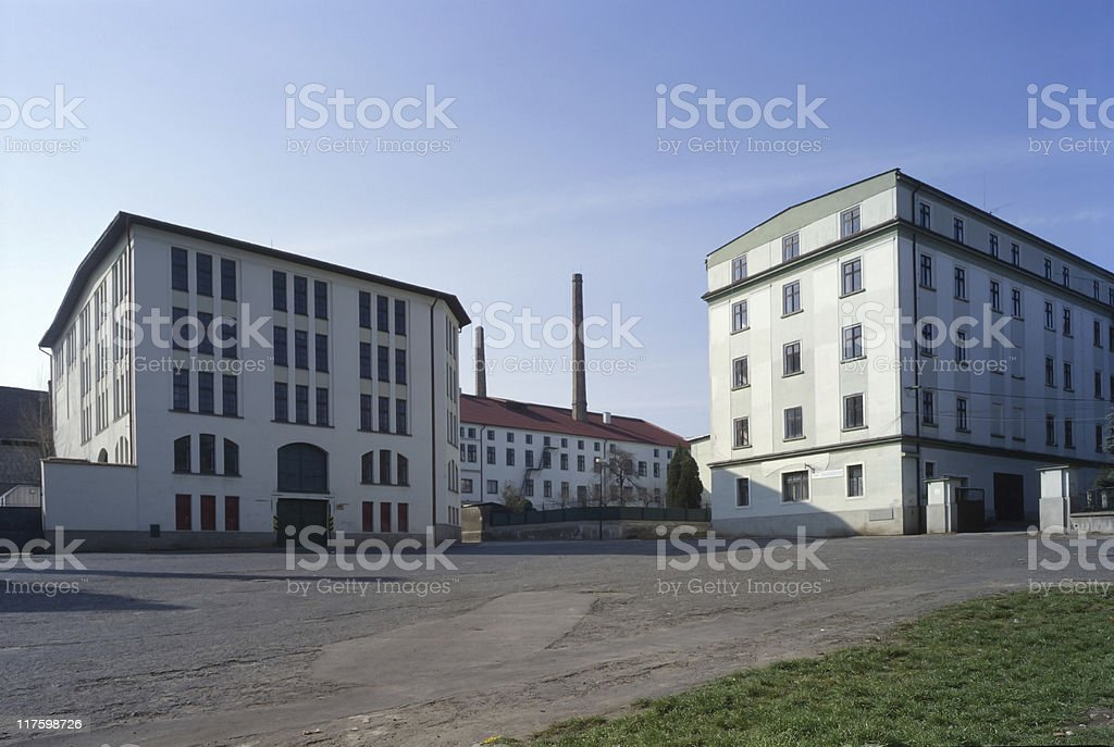 factory building with storehouse royalty-free stock photo