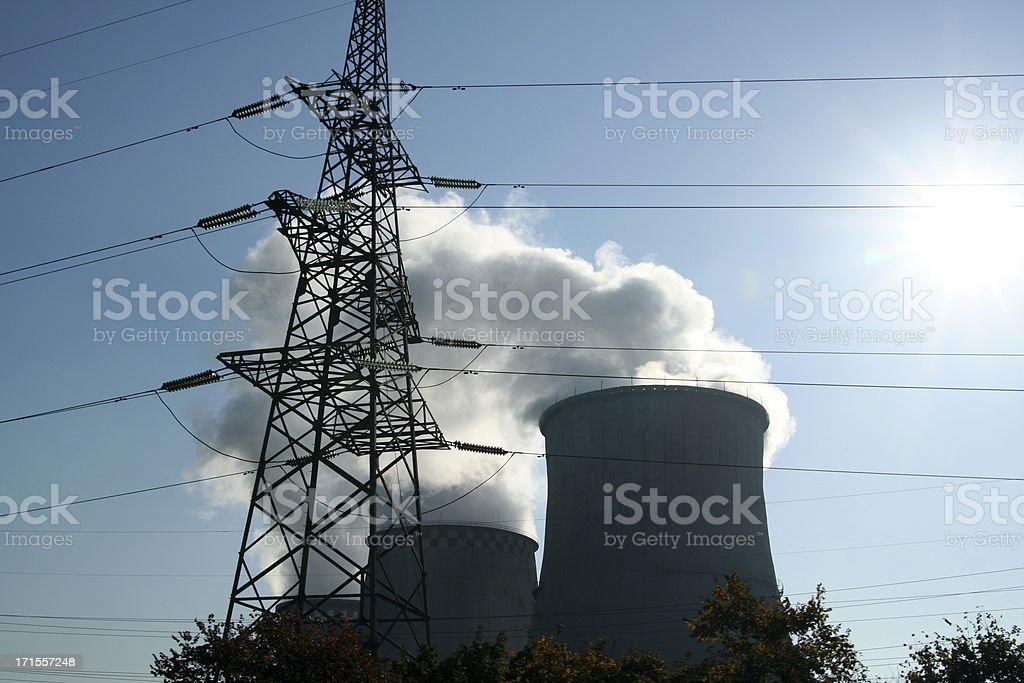 Factory chimney royalty-free stock photo