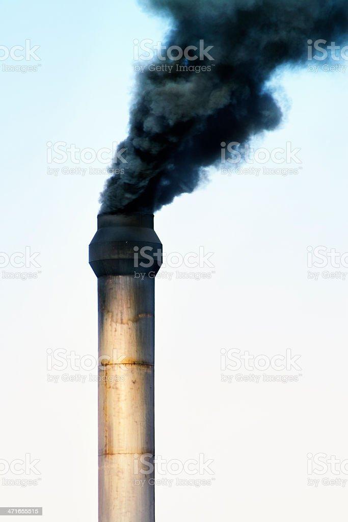 factory chimney stock photo