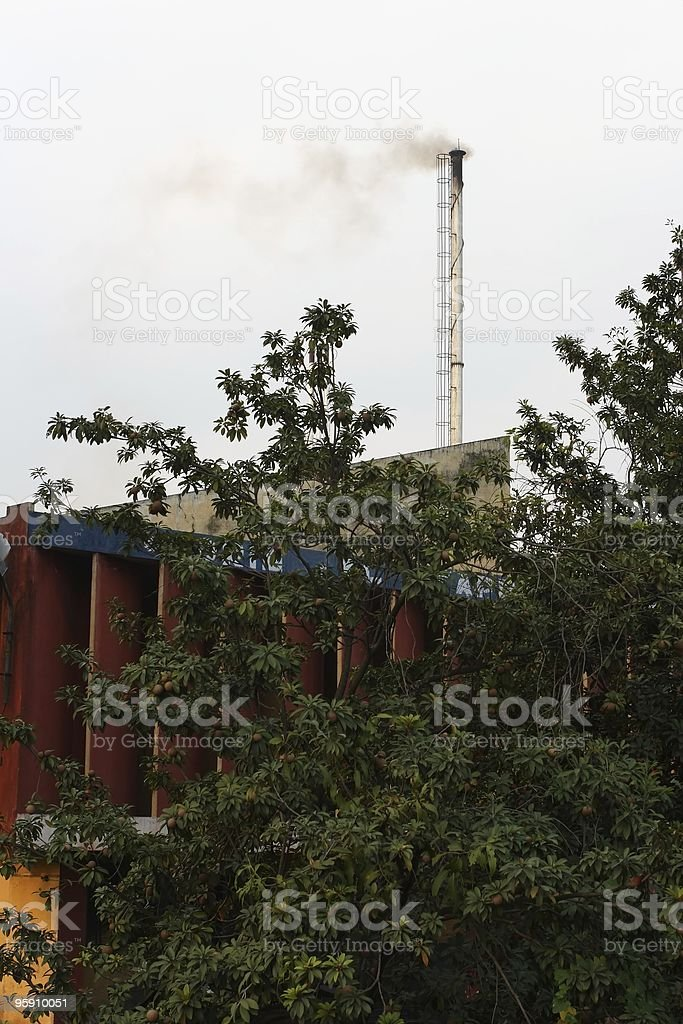 Factory chimney royalty-free stock photo