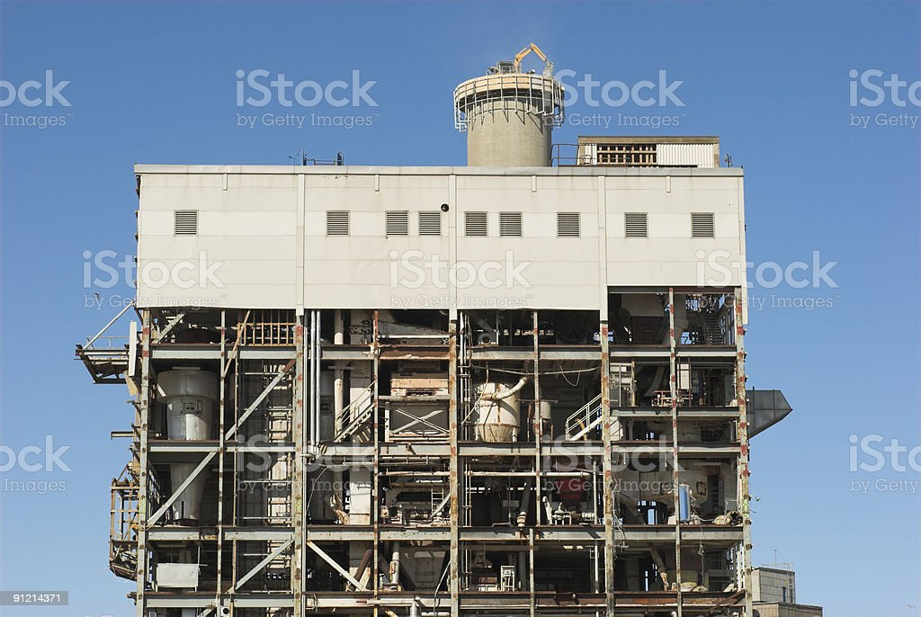 Factory destruction royalty-free stock photo