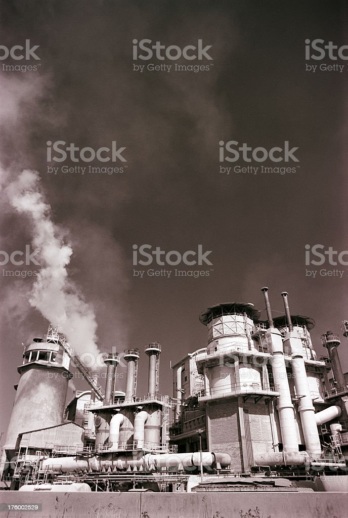factory - emissions royalty-free stock photo