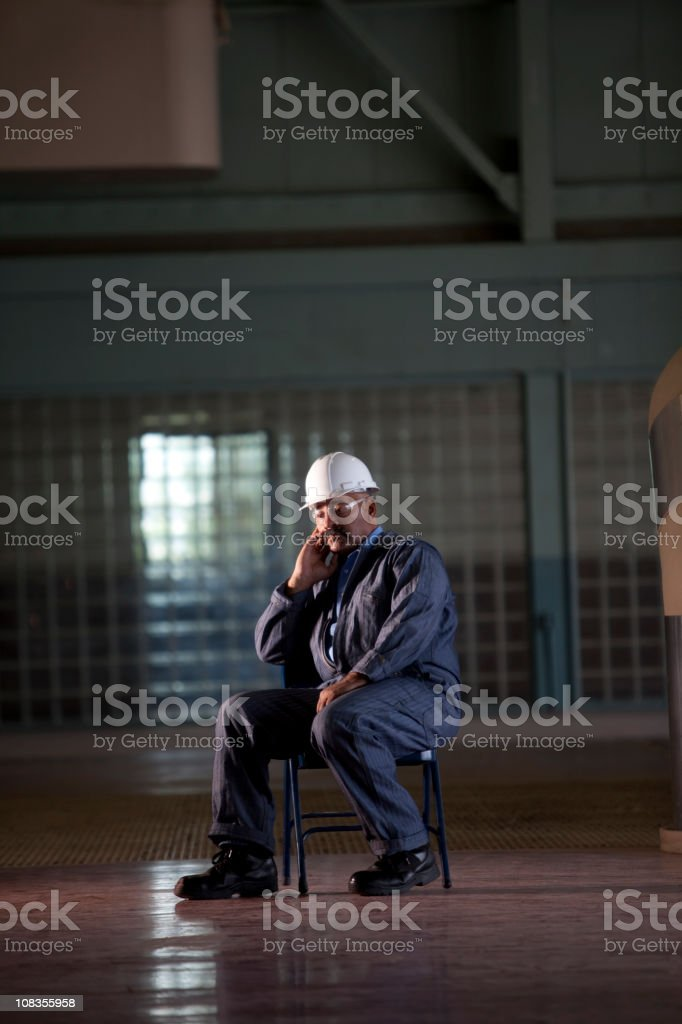 Factory employee royalty-free stock photo