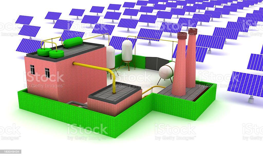 Factory energy efficiency royalty-free stock photo