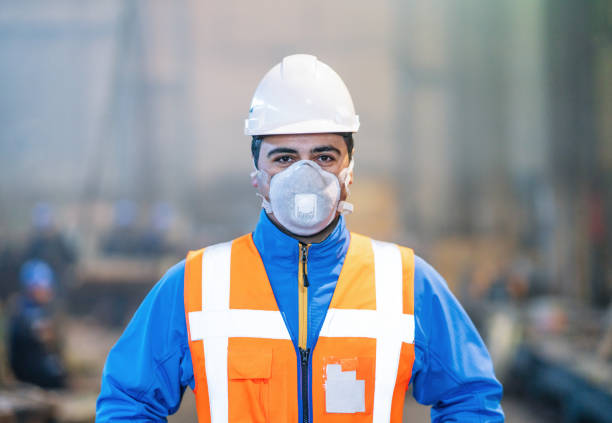 Factory Engineer Factory Engineer pollution mask stock pictures, royalty-free photos & images