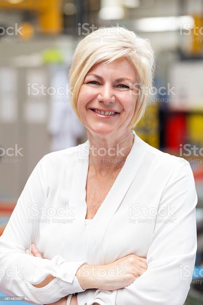 Factory Executive stock photo