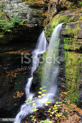 Waterfalls at George W Childs Recreation Site in Delaware Water Gap National Recreation Area, Pennsylvania, USA