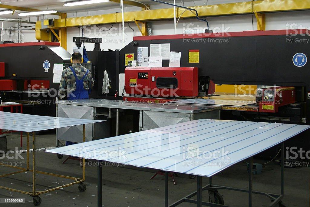 Factory Floor 2 royalty-free stock photo