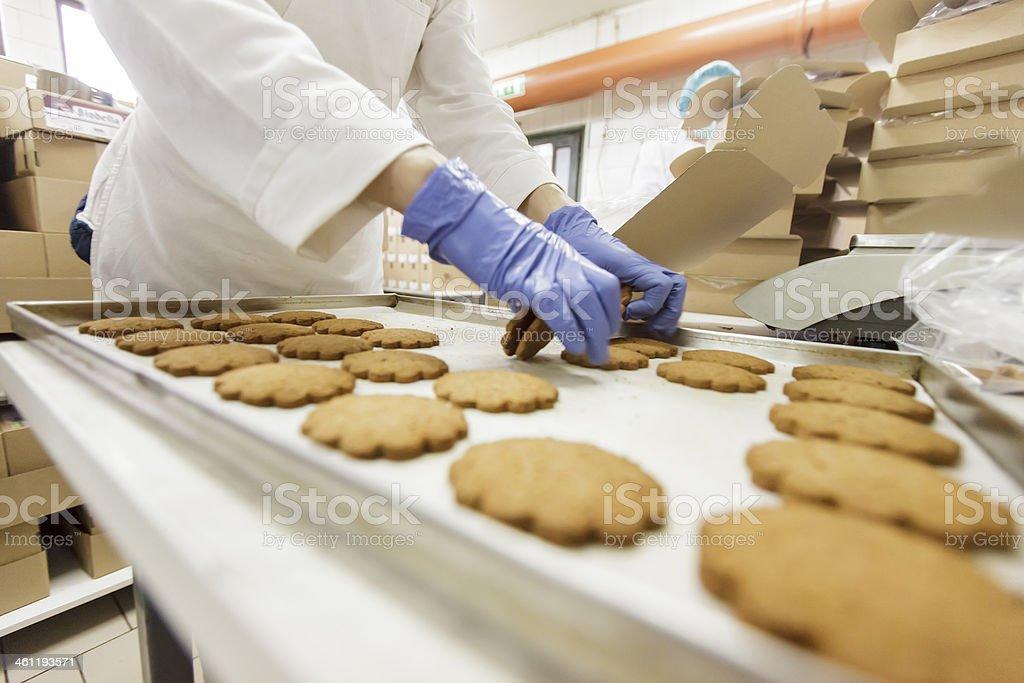 Fábrica de biscoitos - foto de acervo