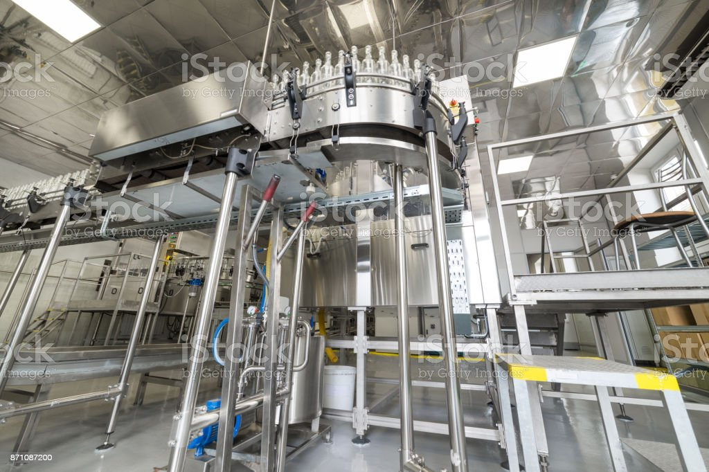 Factory for bottling alcoholic beverages stock photo