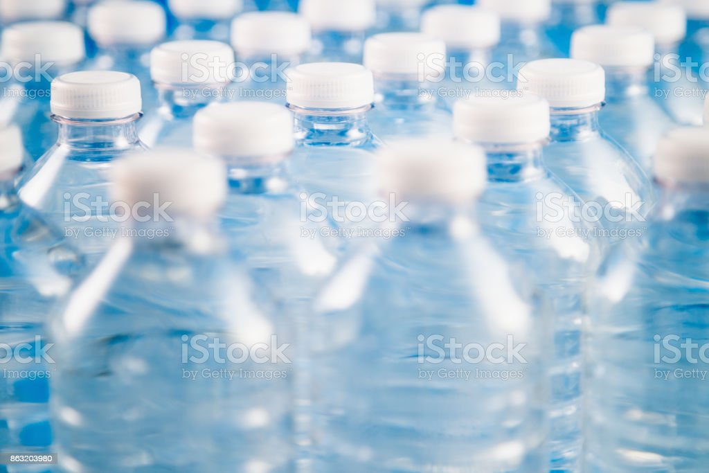 Factory For Plastic Bottle Recycling And Processing stock photo
