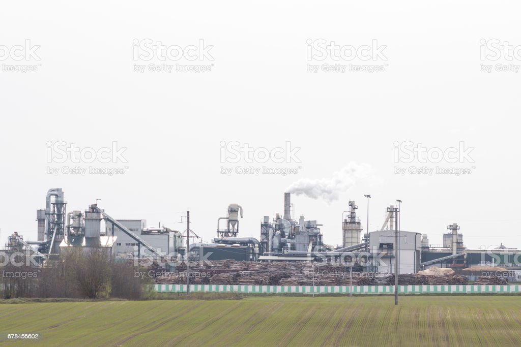 Factory for the production of materials for furniture and construction industry royalty-free stock photo