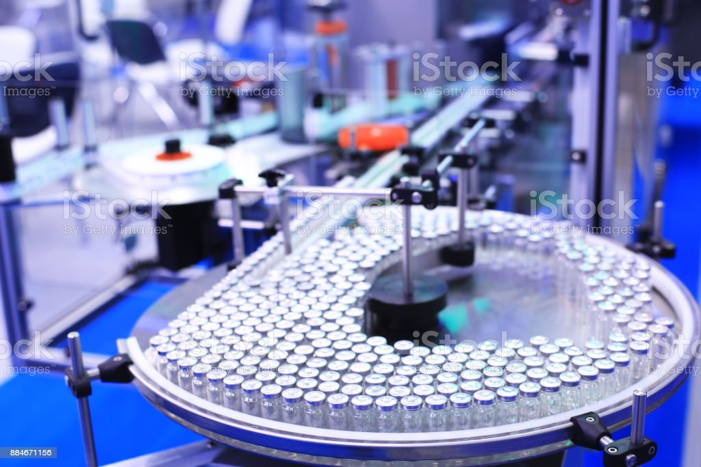 Factory for the production of medicines - foto stock