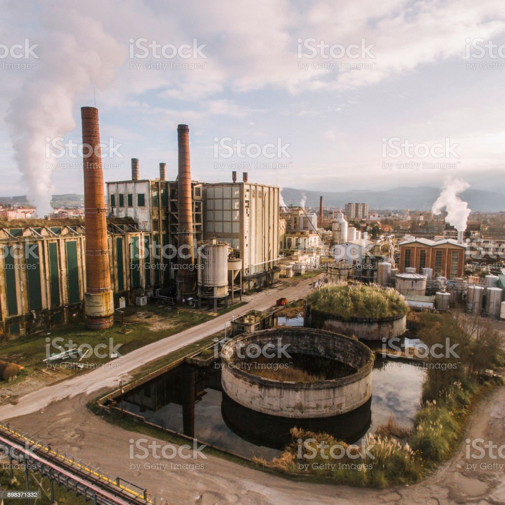 Factory from above stock photo