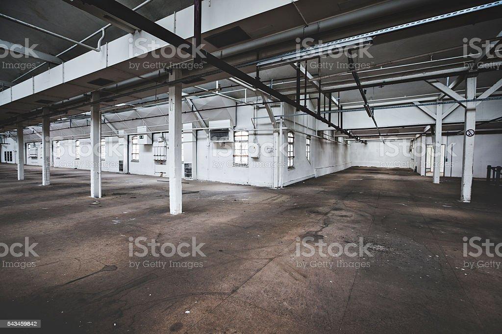 Fabrik hall - Lizenzfrei Abwesenheit Stock-Foto