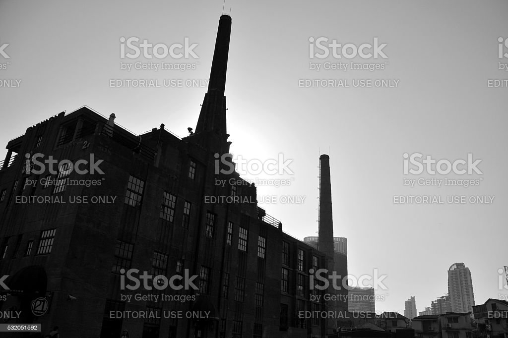 Factory in Hongkou district of Shanghai, China stock photo