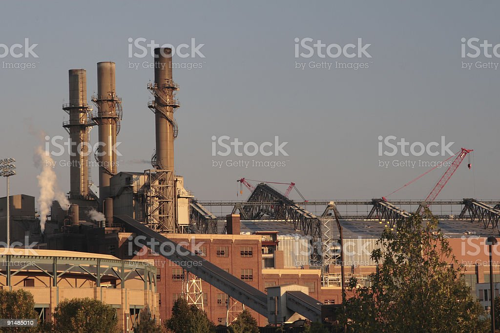 factory in Indiapolis royalty-free stock photo