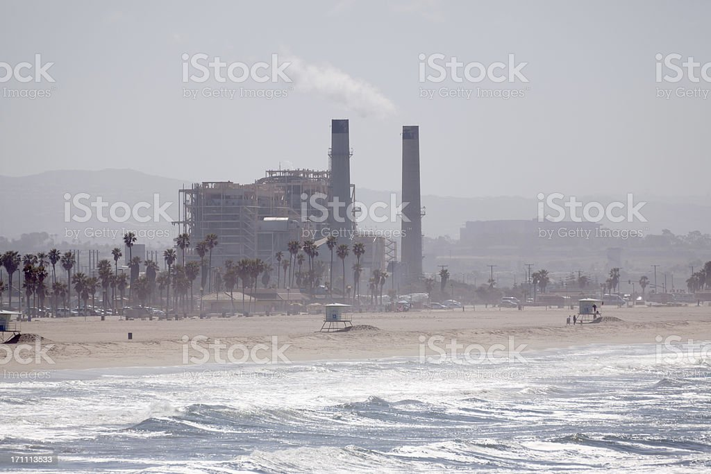 Factory in Southern California royalty-free stock photo