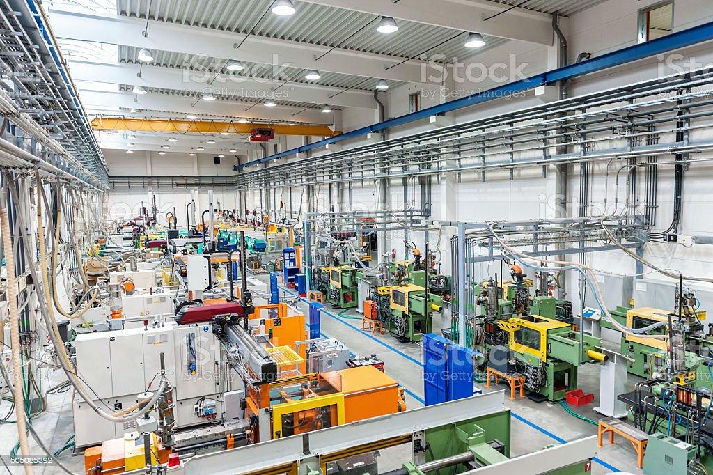 Factory indoor stock photo