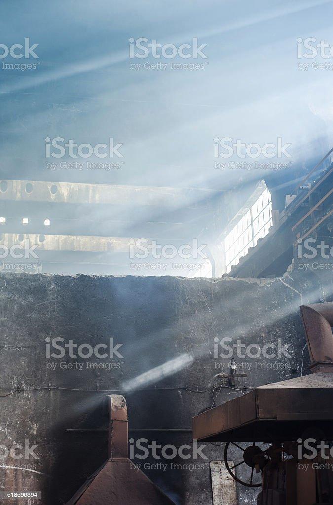 Factory interior stock photo