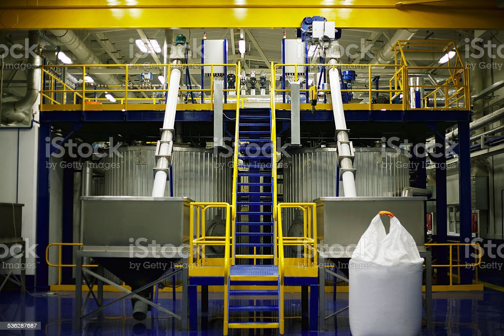 Factory interior stock photo