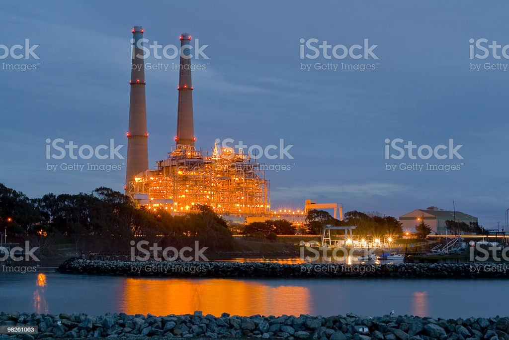 Factory lights royalty-free stock photo