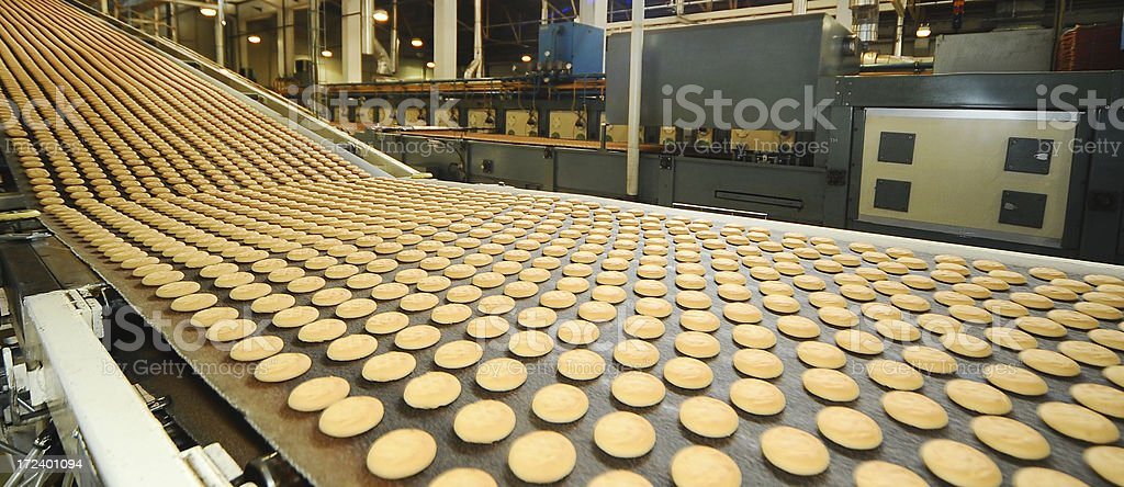 factory line and products stock photo