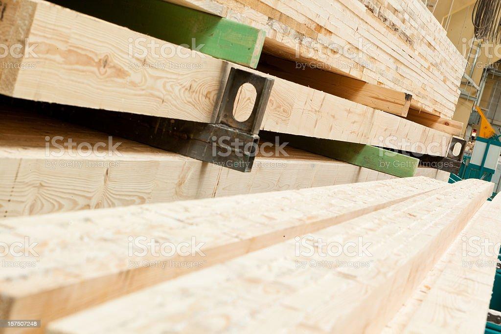 Factory: lumber yard stock photo