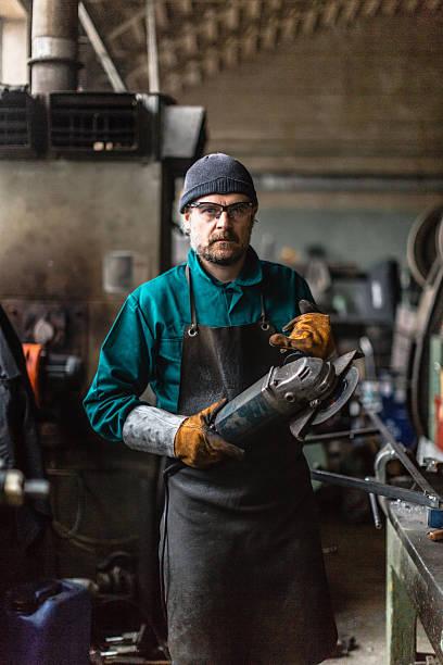 Fábrica hombre de retrato - foto de stock