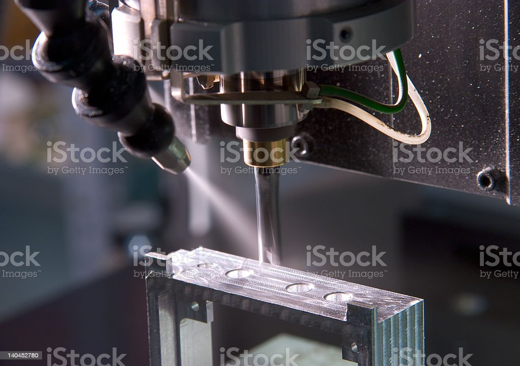 factory molding machine stock photo
