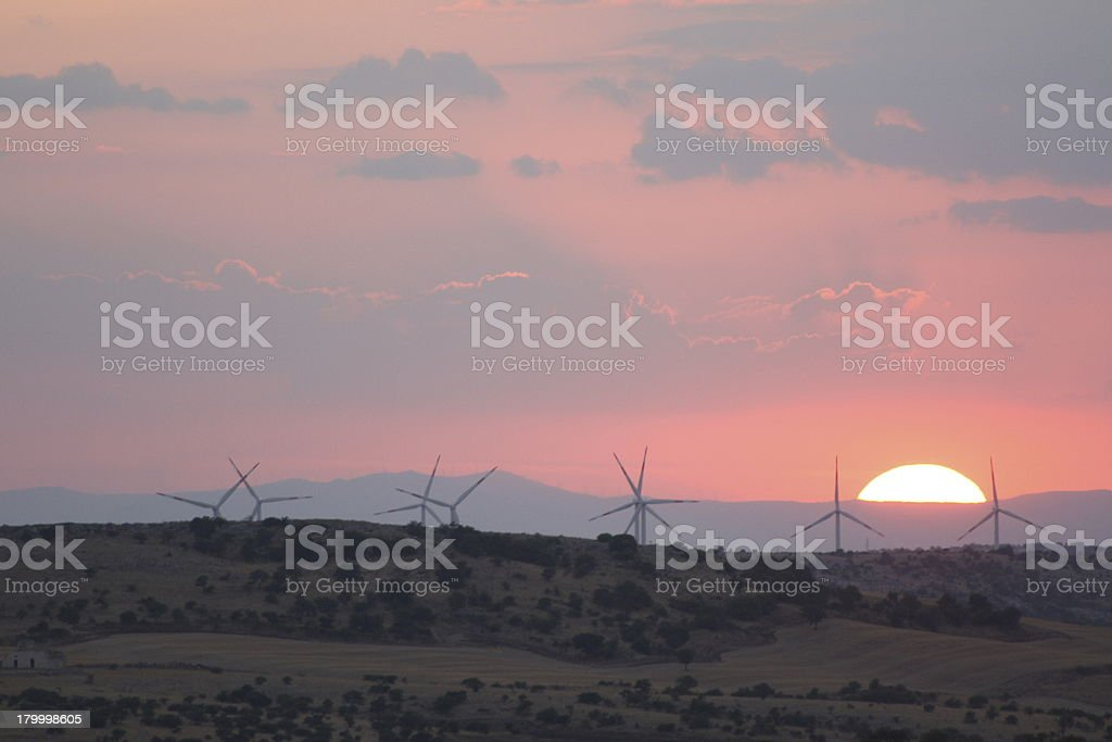 factory of the wind royalty-free stock photo