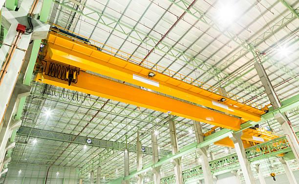 Factory overhead crane stock photo