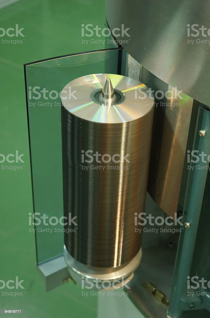 DVD factory royalty-free stock photo