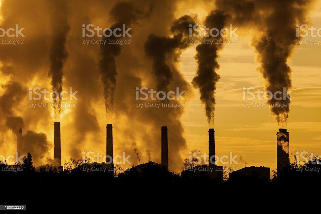 factory plants royalty-free stock photo