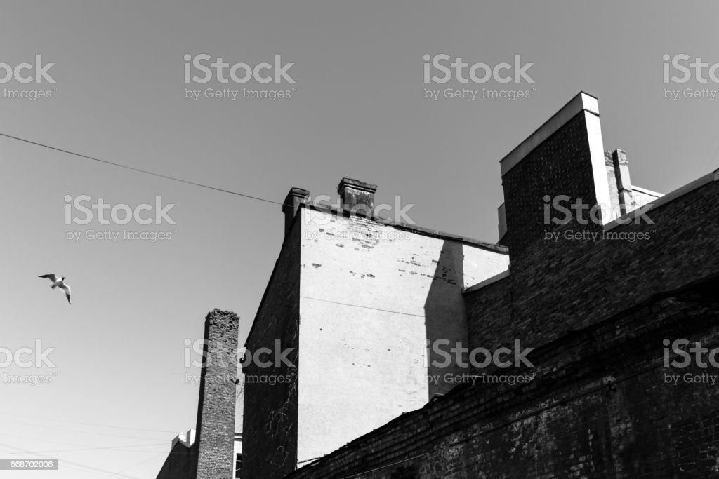 Factory Roof stock photo