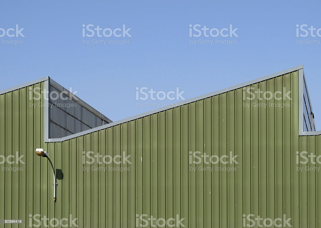 Factory Roof royalty-free stock photo
