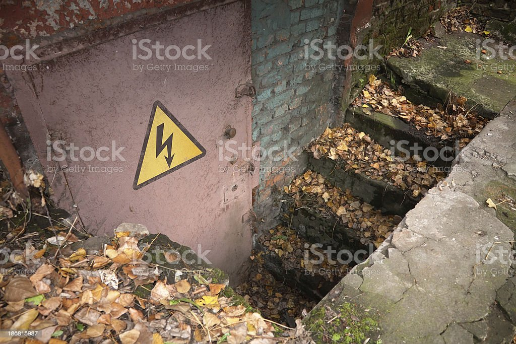 Factory ruins royalty-free stock photo