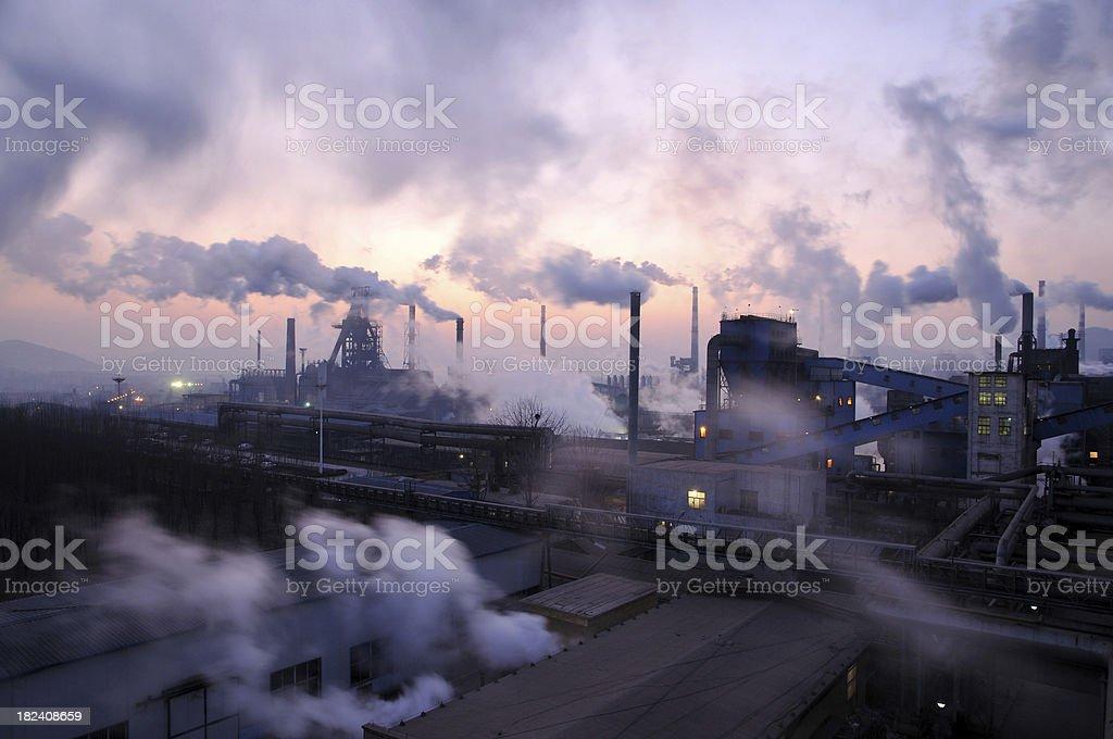 Factory scene royalty-free stock photo
