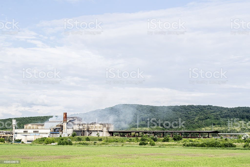 factory smoke royalty-free stock photo