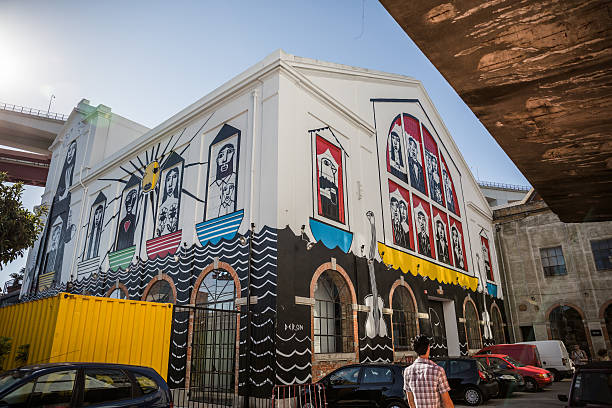 LX Factory street art, Lisbon, Portugal stock photo