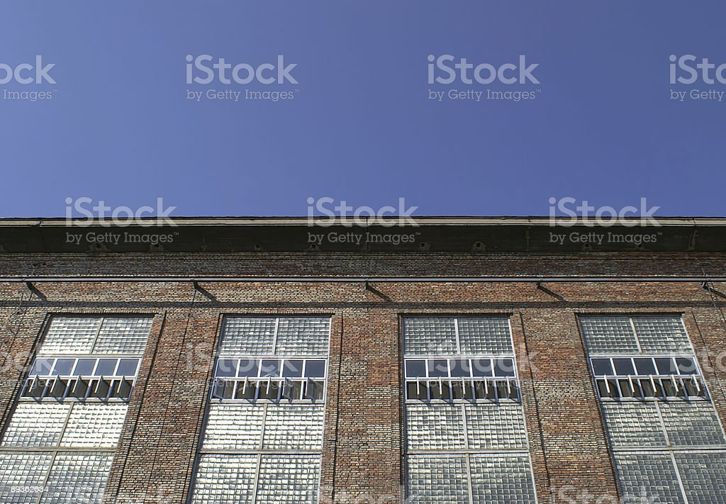 Factory wall royalty-free stock photo