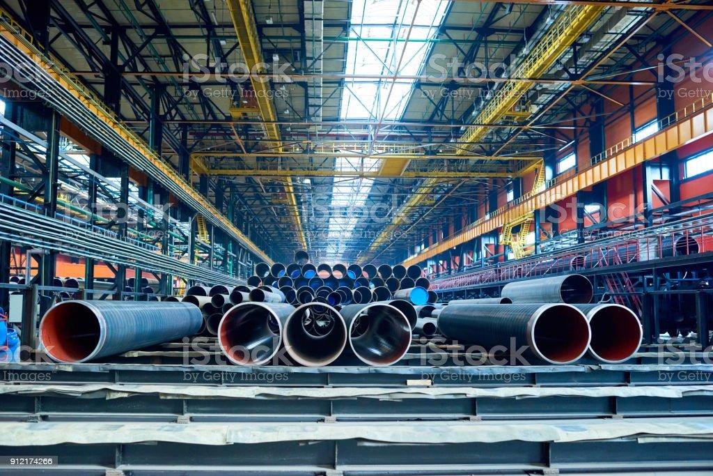 Fabrik Lager mit hergestellten Rohre – Foto