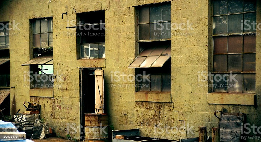 Factory Windows royalty-free stock photo
