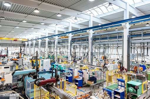 istock Factory with machines 505057478