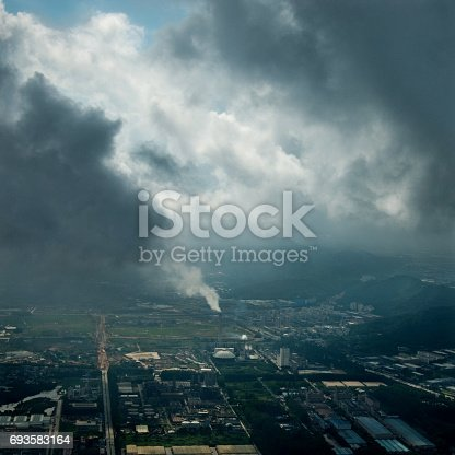 istock Factory with smoking 693583164
