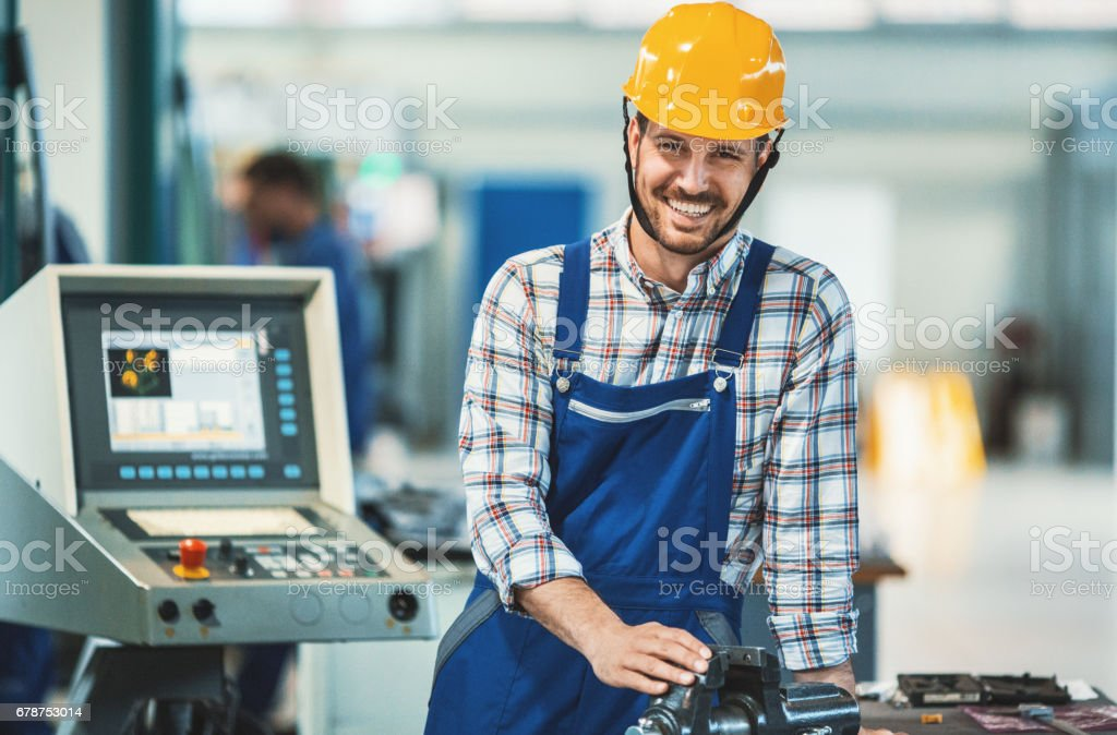Factory worker. stock photo